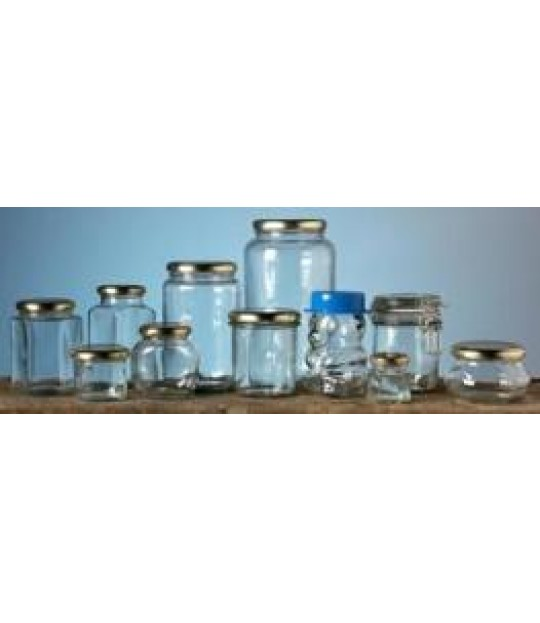 Glass 290 ml, rundt m_lokk