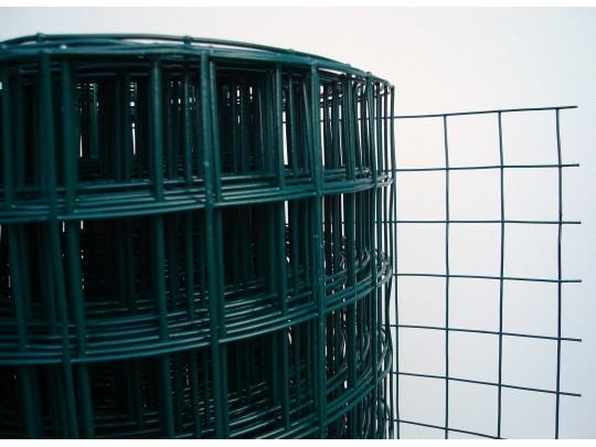 Hagegjerde, plastbelagt grønn, 100cm x 25m. Firkant