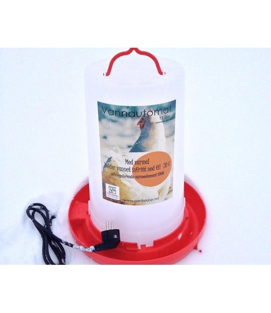 Vannautomat til høns 100w, 11 liter
