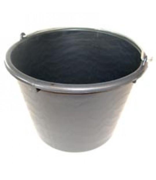 Plastbøtte sort 20 liter