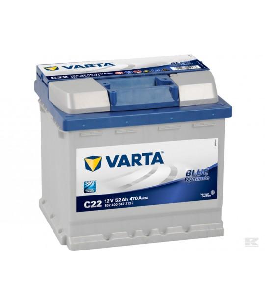 Startbatteri Varta 12 V 52 amp