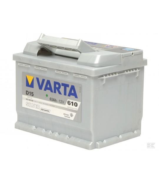 Startbatteri Varta 12 V 63 amp
