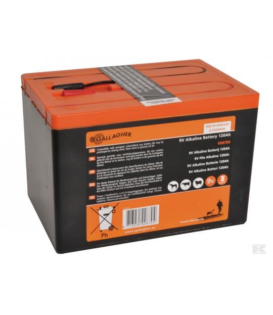 Batteri 9V 120 Ah Alkaline
