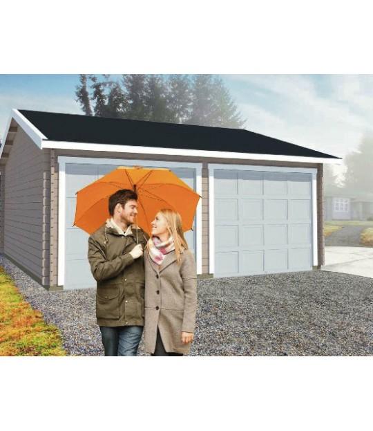 Garasje Dobbel, Laft 640x613cm