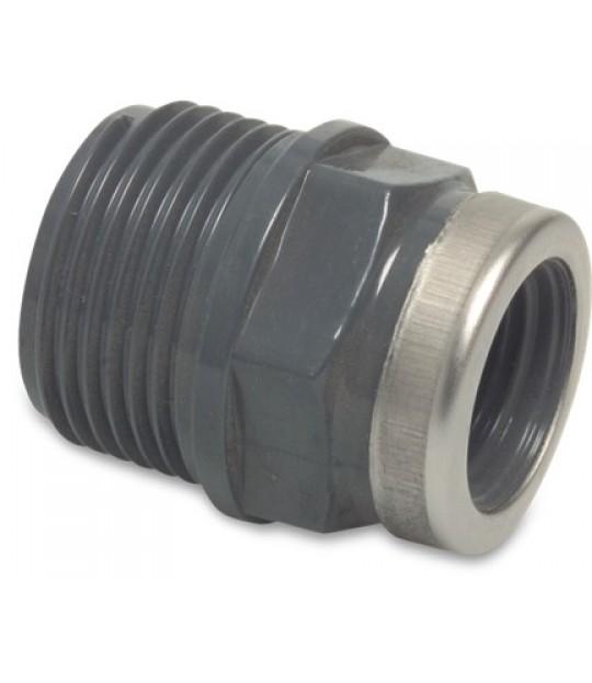 Overgang muffenippel PVC-U 10 bar 2