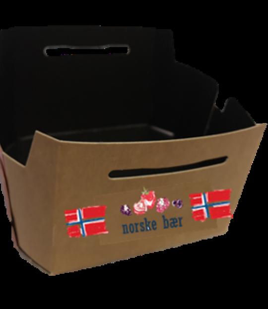 Bærkurver papp norske bær 500g. 1000 stk