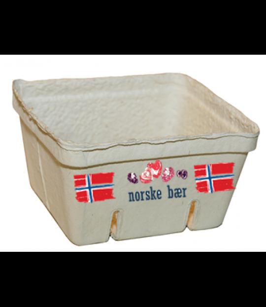 Bærkurver papirfiber norske bær 500g. 360 stk