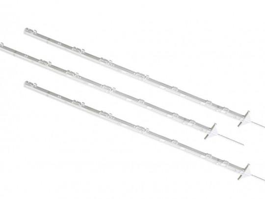 Plaststolp for el gjerde, med stålspiss, 160 cm, 5-pakk