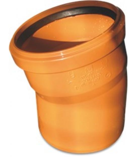 Bend PVC-U 15¤ SN4 200mm x 3,2mm brun