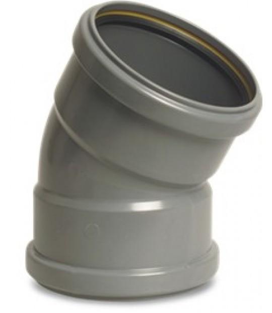 Bend PVC-U 15¤ SN4 160mm x 3,2mm grå