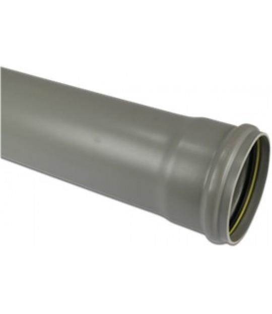 Avløpsrør PVC-U SN2 160mm x 3,2mm grå 5 meter
