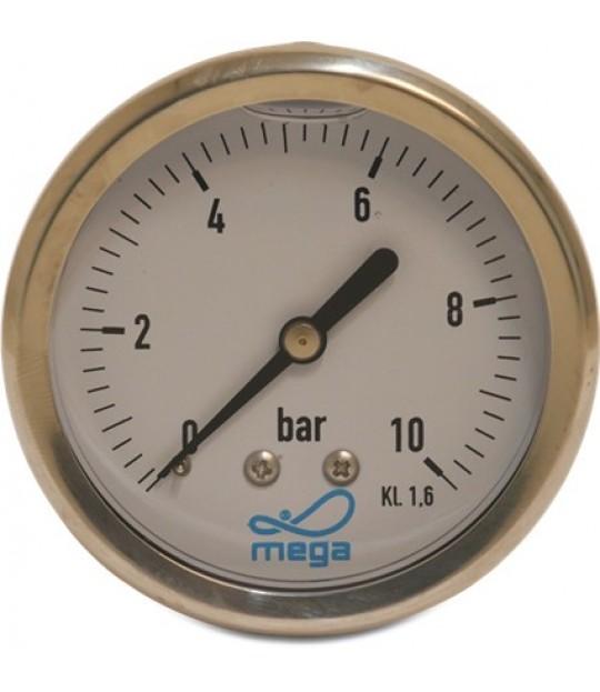 Manometer Profec glycerin 63mm 0-4 bar, bakstuss 1/4