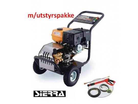 Høytrykksvasker Sierra Bensin 248 bar 1240 l/t, m/utstyrspk