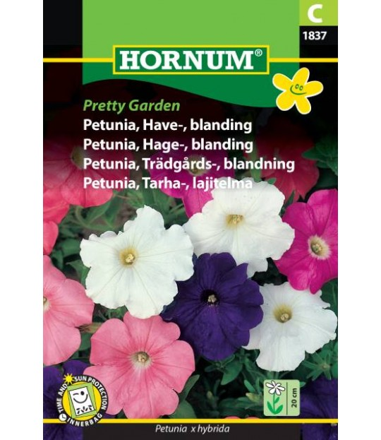 Frøpose Petunia hageblanding Pretty garden Prisgr. C