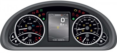 BCS Kommunaltraktor med farge display dashbord